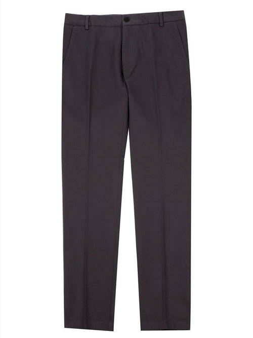 SLIM FIT ITALIAN COTTON CHINO TROUSERS – CHARCOAL GREY
