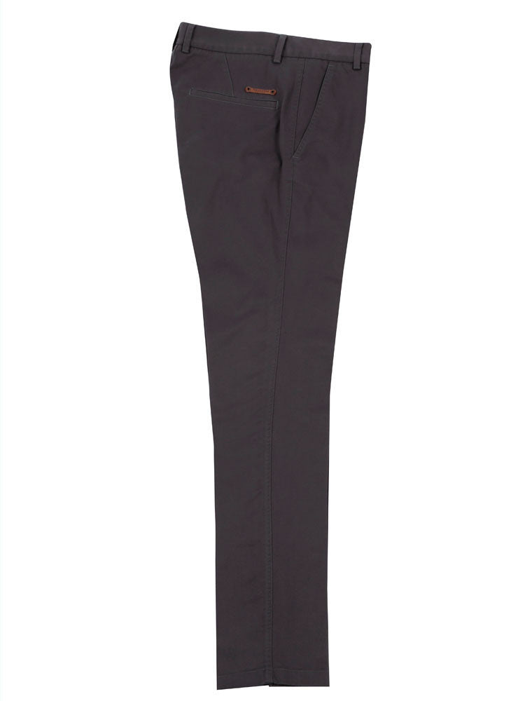 Side view of Italian Chino trouser - Charcoal grey