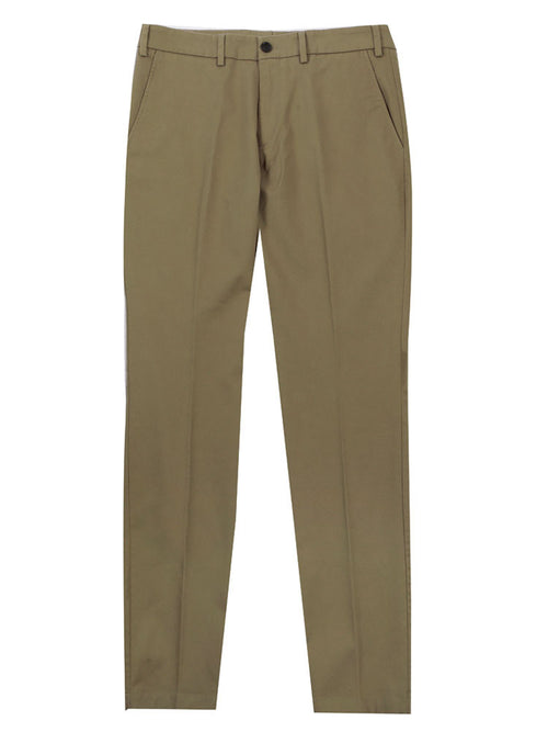 SLIM FIT ITALIAN COTTON CHINO TROUSERS – CLASSIC KHAKI