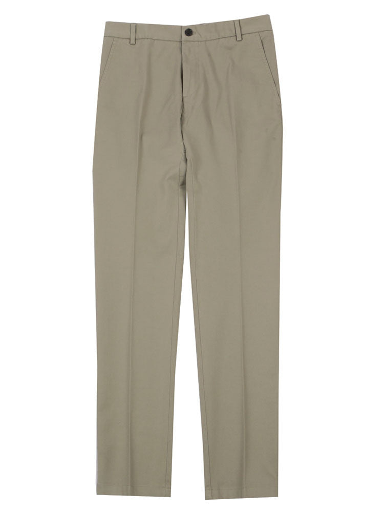 SLIM FIT ITALIAN COTTON CHINO TROUSERS – LIGHT GREY