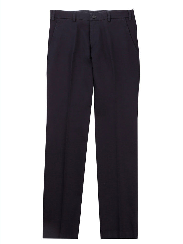 SLIM FIT ITALIAN COTTON CHINO TROUSERS – NAVY