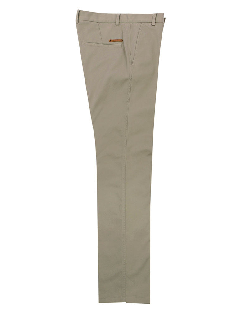 Side view of Italian Chino trouser - Light Grey