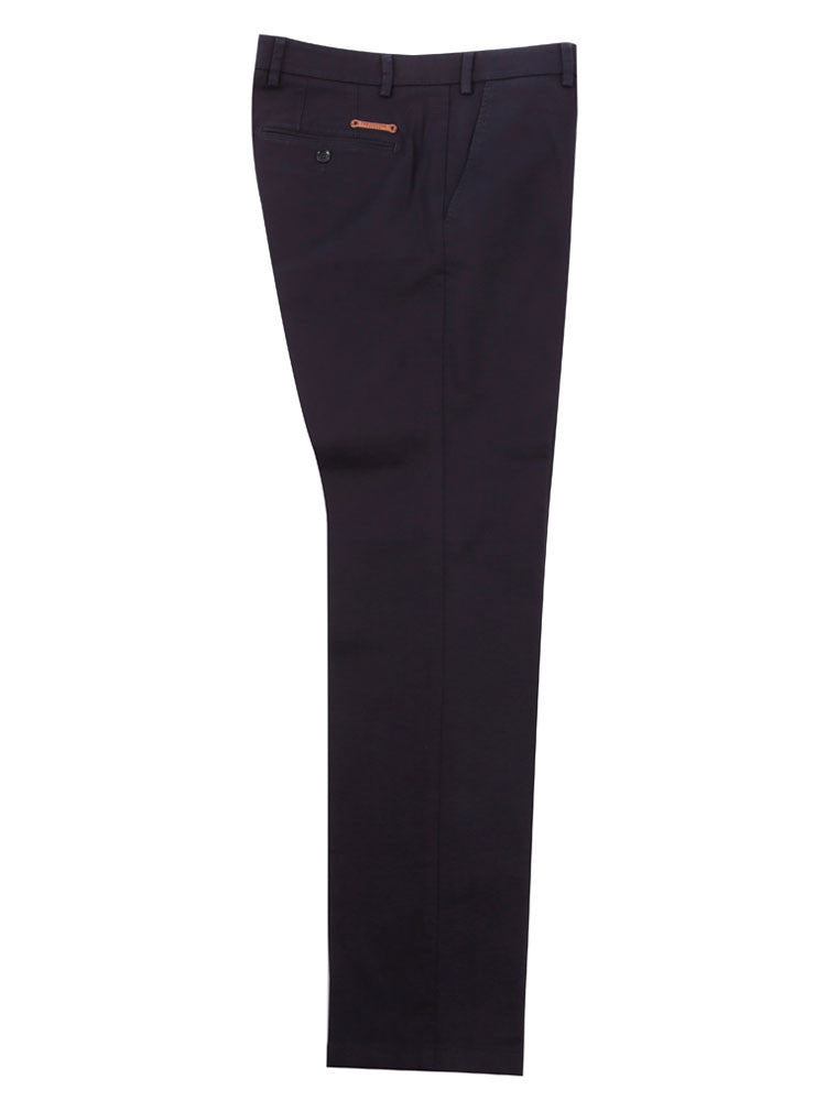 Side view of Italian Chino trouser - Navy
