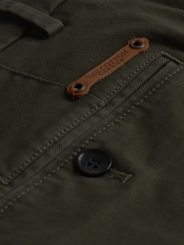 The Cotton® tab above pocket