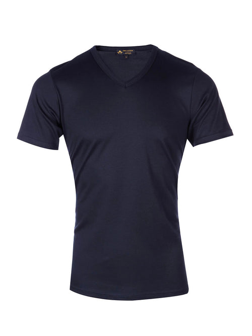 Supima cotton Short Sleeve V Neck - Navy t-shirt
