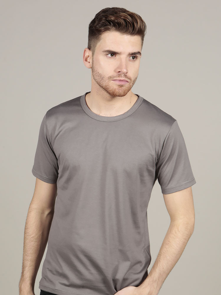 Short Sleeve Crew Neck - Grey