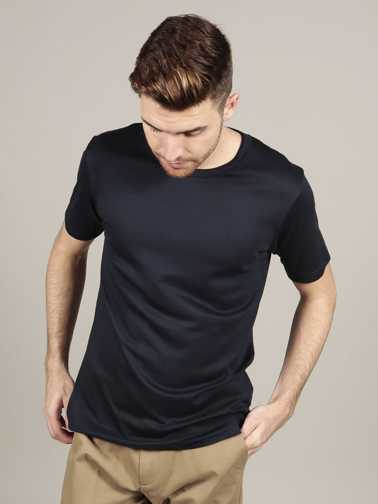 Short Sleeve Crew Neck - Navy