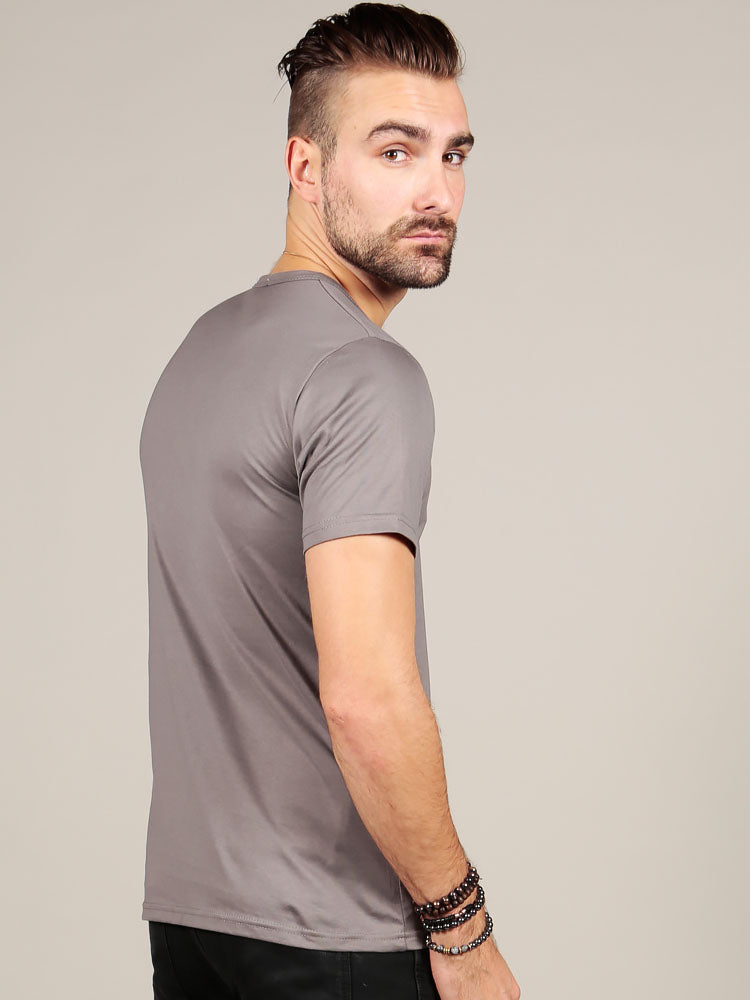 Male model wearing Supima Cotton t-shirt