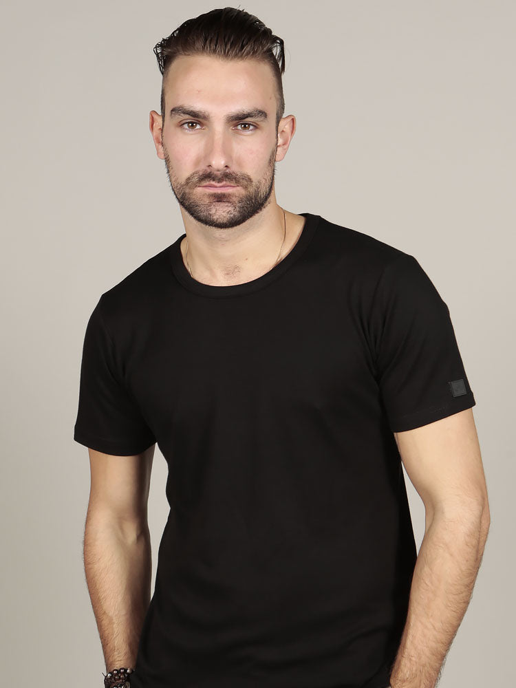 Short Sleeve Crew Neck - Black