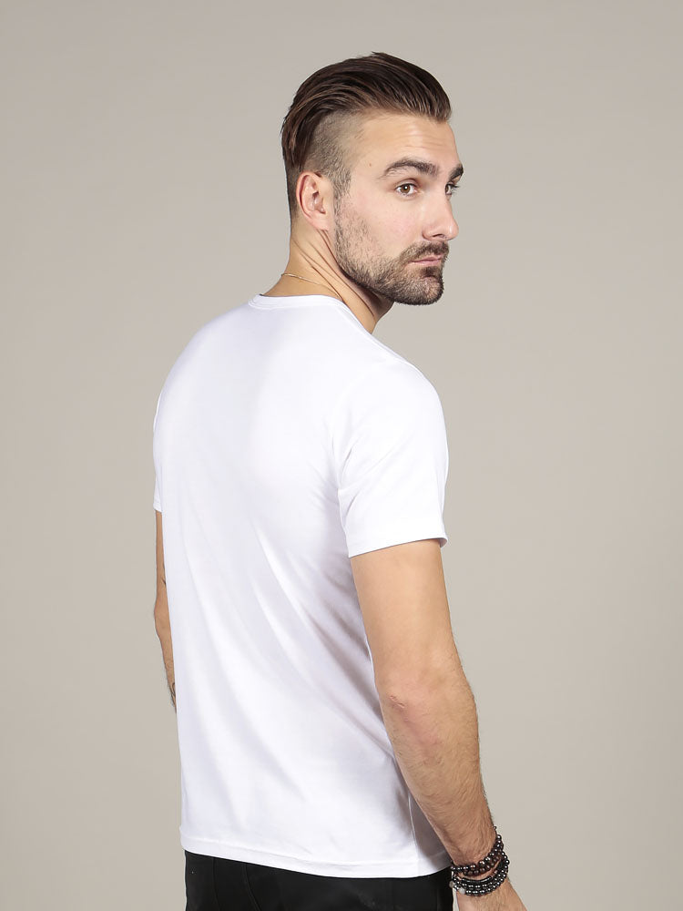 Short Sleeve Crew Neck - White