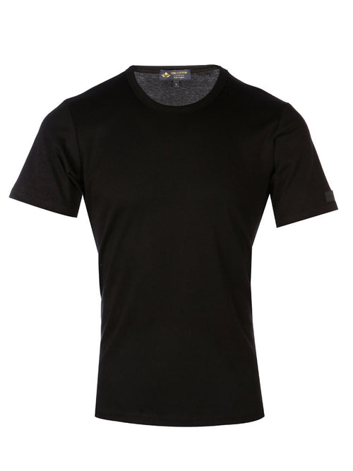 Supima Cotton Short Sleeve Crew Neck T-shirt - Black t-shirt