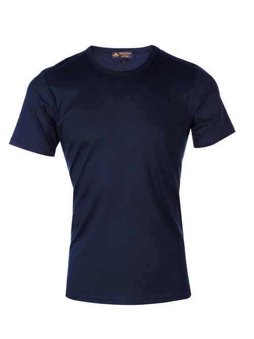 Supima Cotton Short Sleeve Crew Neck - Navy t-shirt