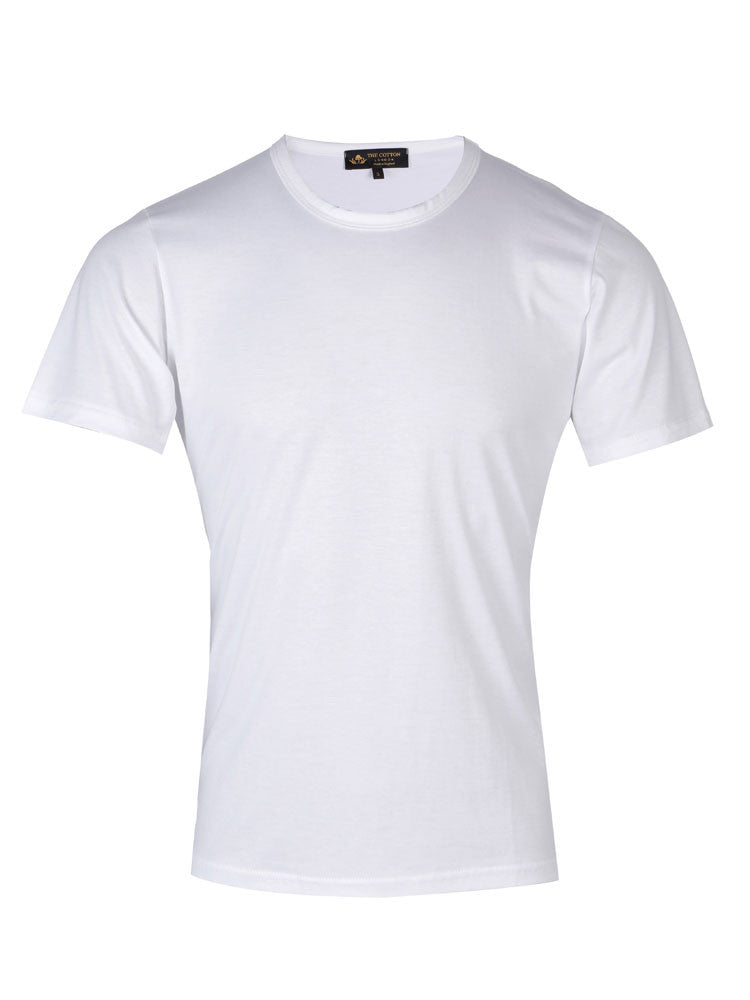 Supima Cotton Short Sleeve Crew Neck - White t-shirt