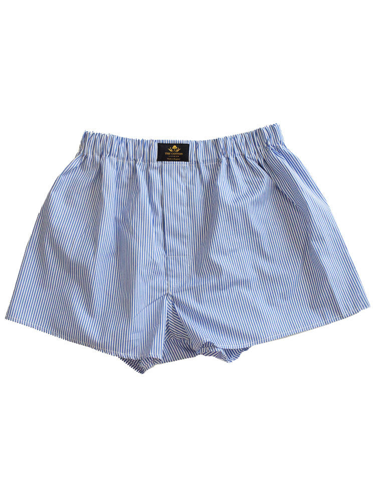 STRIPED COTTON BOXERS - MAUVE