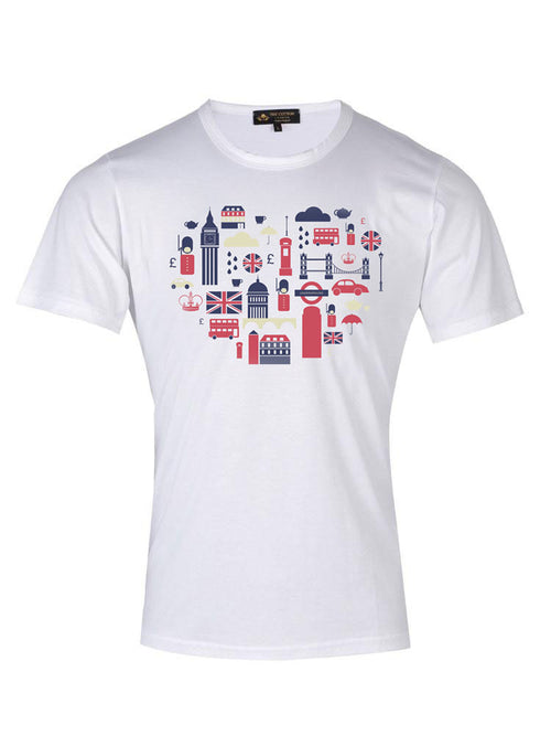 TCL Heart of London White T-shirt