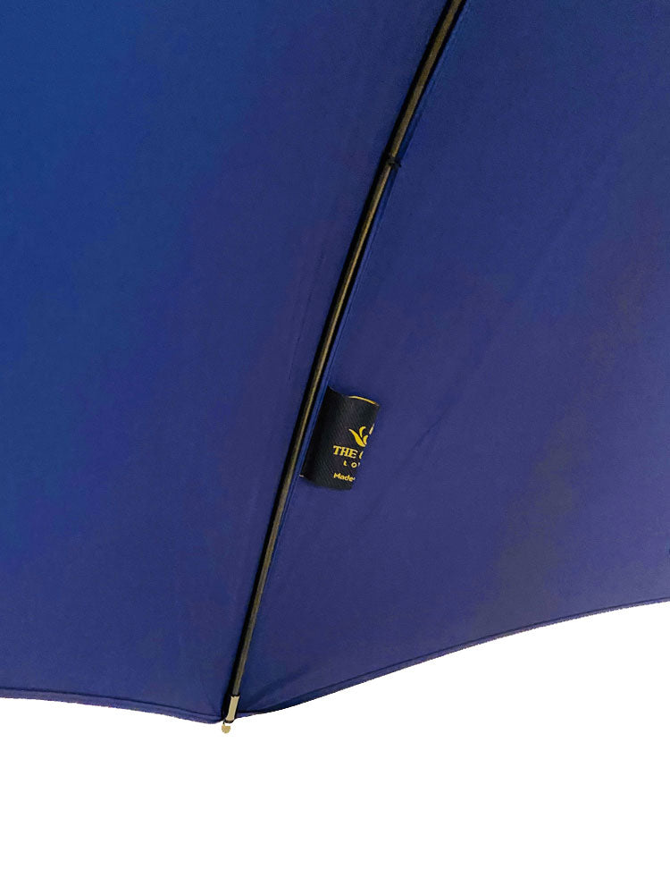 The Cotton - French Navy Crook Wooden Handle Umbrella - 04