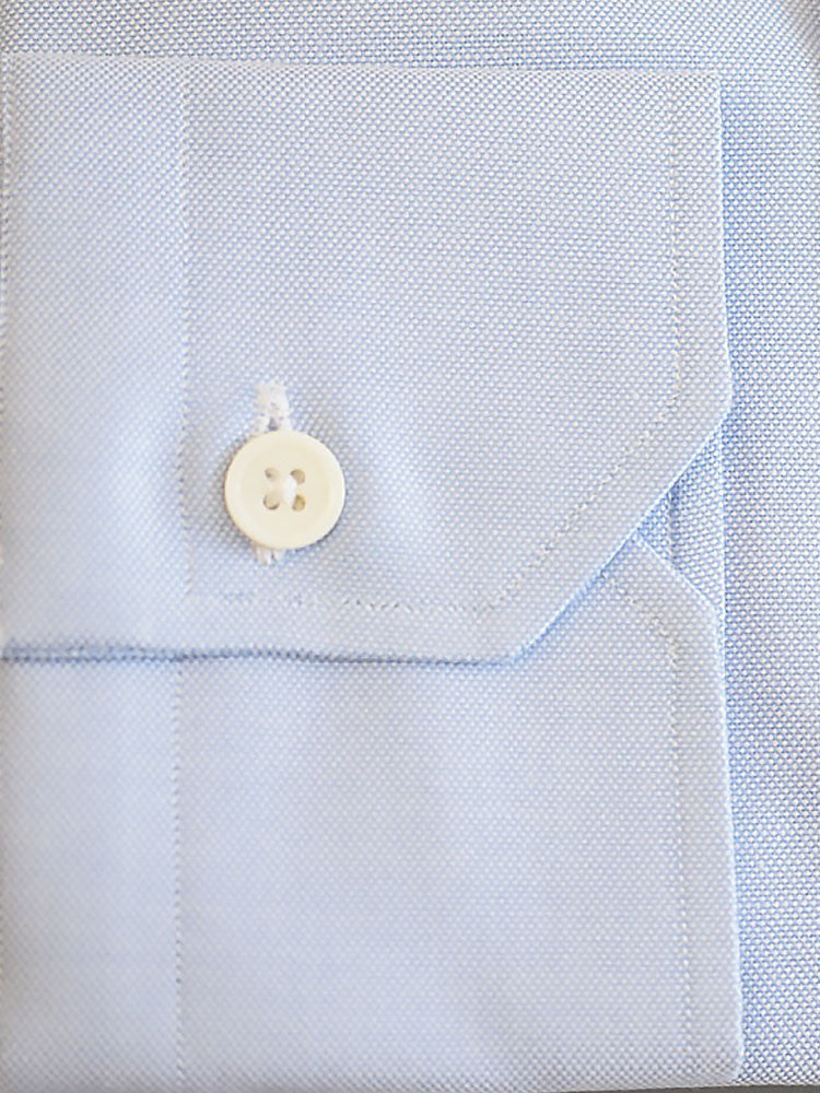 Full sleeves with one button mitered cuffs