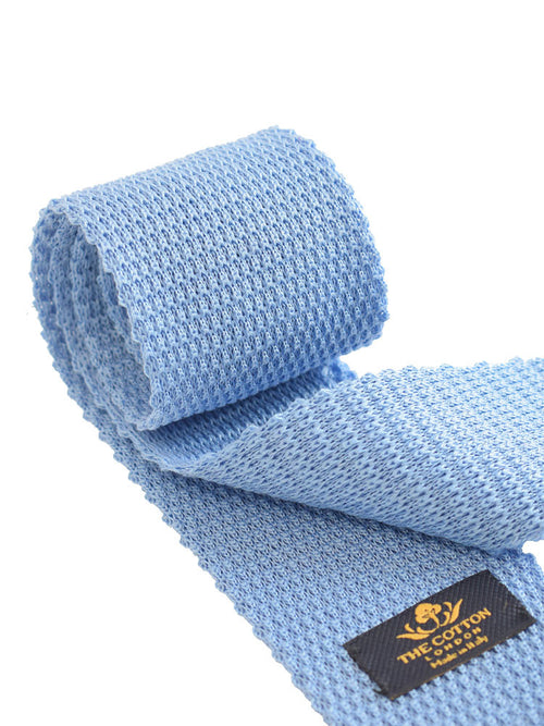 Plain knitted cotton tie