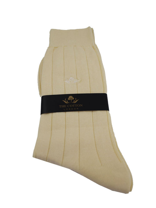 Luxurious Sea Island Cotton socks - Cream