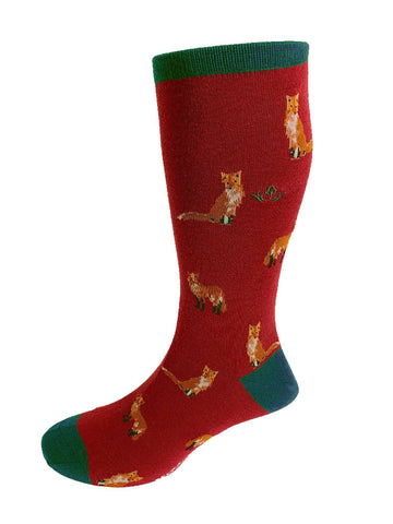 FOX MOTIF SOFT COTTON SOCKS – NAVY