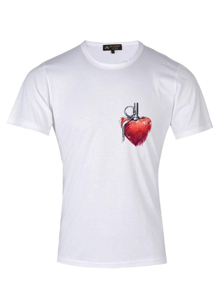 Supima Cotton Grafitti Heart T-shirt