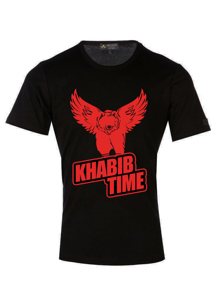 Supima Cotton Khabib Time Eagle White T-shirt