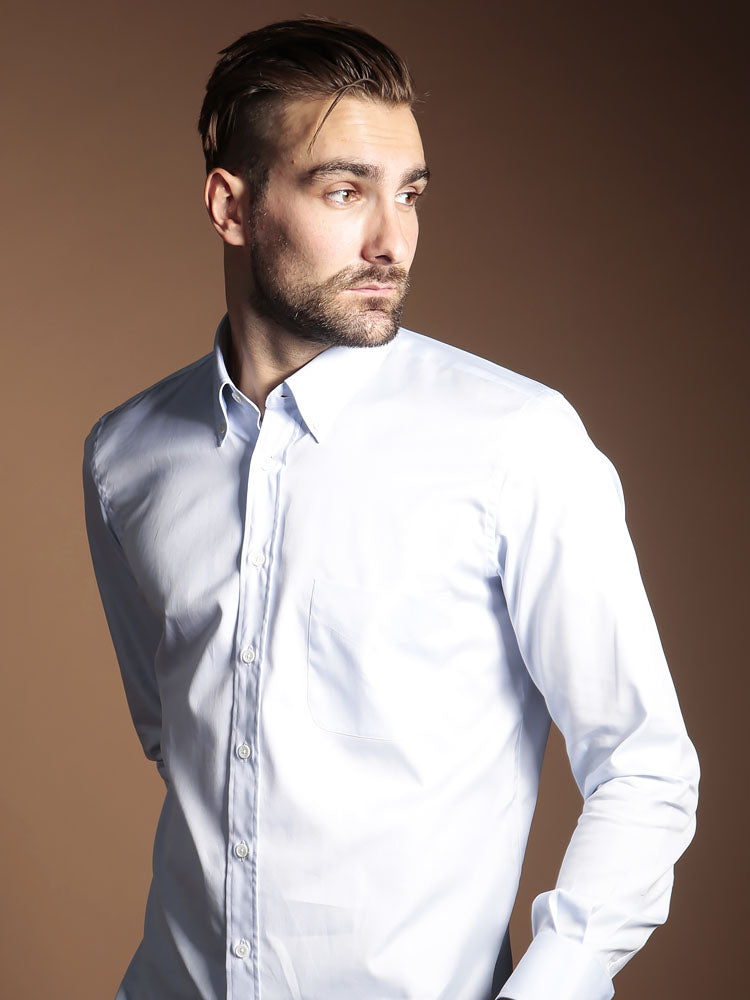 Thomas Mason Cambridge Light Blue Shirt