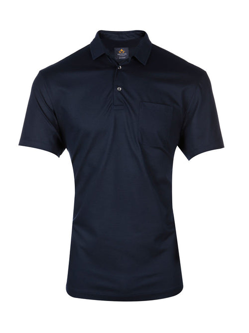 CLASSIC FIT KNITTED PIQUE POLO – NAVY