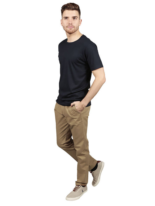 SLIM FIT CHINO TROUSERS – CLASSIC KHAKI