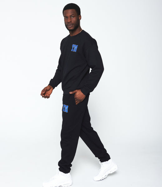 Black Varsity Sweatpants