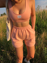 Sporty Shorts- Peach