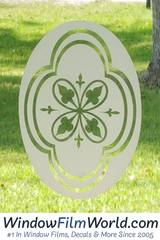 Oval Etched Glass Window Decal