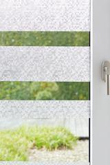 Textured static cling window film