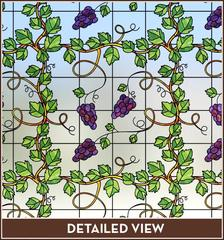 Grapevine Stained Glass Privacy Static Cling