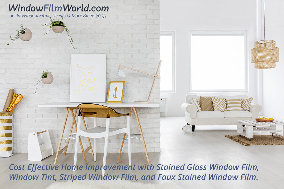 Faux stained window film