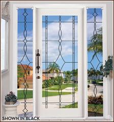 Allure Leaded Glass | See Through Window Film (Static Cling)