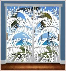 Bahama breeze sliding glass door static cling