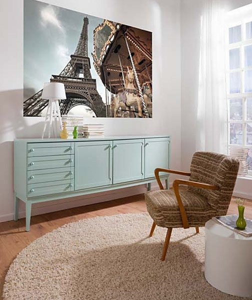 Carousel De Paris Wall Mural - Window Film World