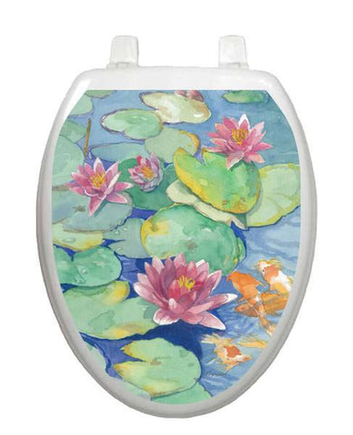 Lily Pads Toilet Tattoos - Window Film World