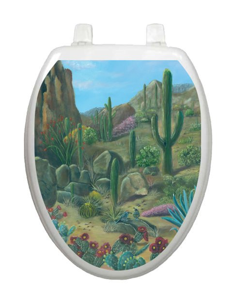 Desert Oasis Toilet Tattoos - Window Film World