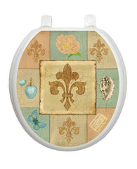 French Lily Collage Toilet Tattoos - Window Film World