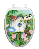 Blooming Birdhouse Toilet Tattoos - Window Film World