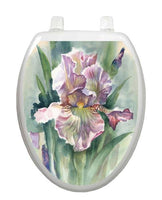 Watercolor Iris Toilet Tattoo - Window Film World