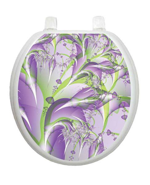 Lavender Fields Toilet Tattoos - Window Film World