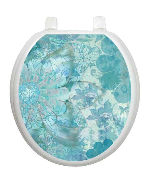 Blue Floral Haze Toilet Tattoos - Window Film World