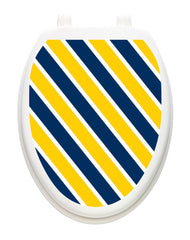 Collegiate Stripe Blue and Corn Yellow | Toilet Tattoos - Window Film World