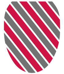 Collegiate Stripe Scarlet and Gray Toilet Tattoos - Window Film World