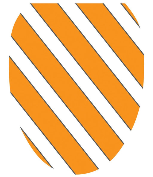 Collegiate Stripe Orange and White | Toilet Tattoos - Window Film World