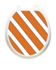 Collegiate Stripe Burnt Orange and White | Toilet Tattoos - Window Film World