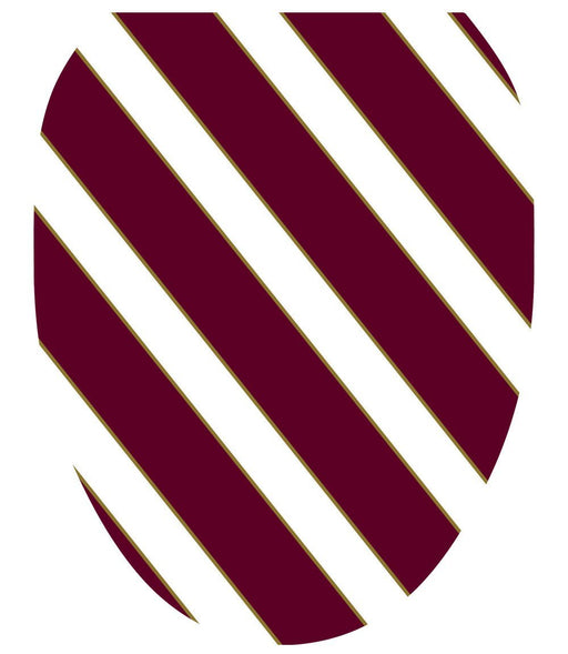 Collegiate Stripe Maroon and White Toilet Tattoos - Window Film World